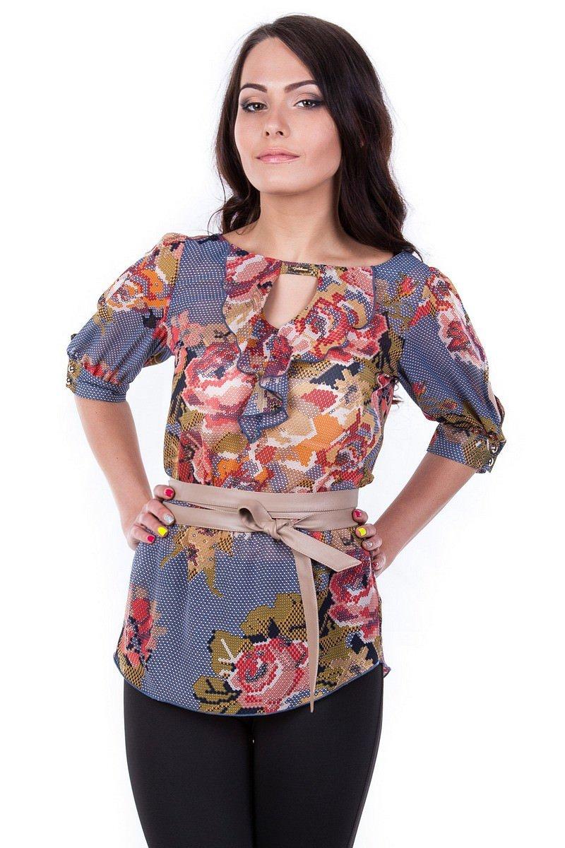 Оптом офисные блузы Modus Блуза Лена шифон