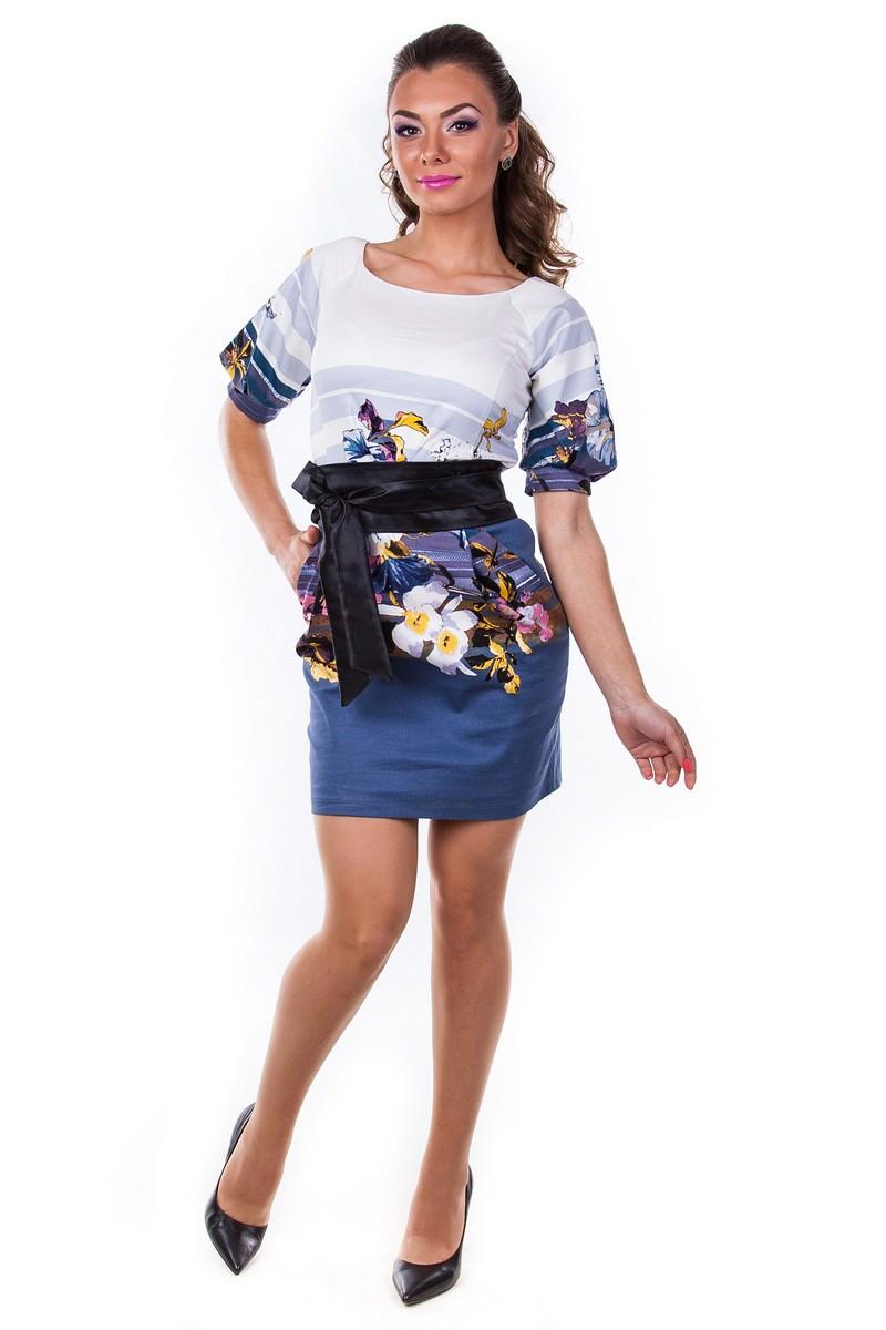 Женская одежда оптом Украина Modus Платье Дефиле принт