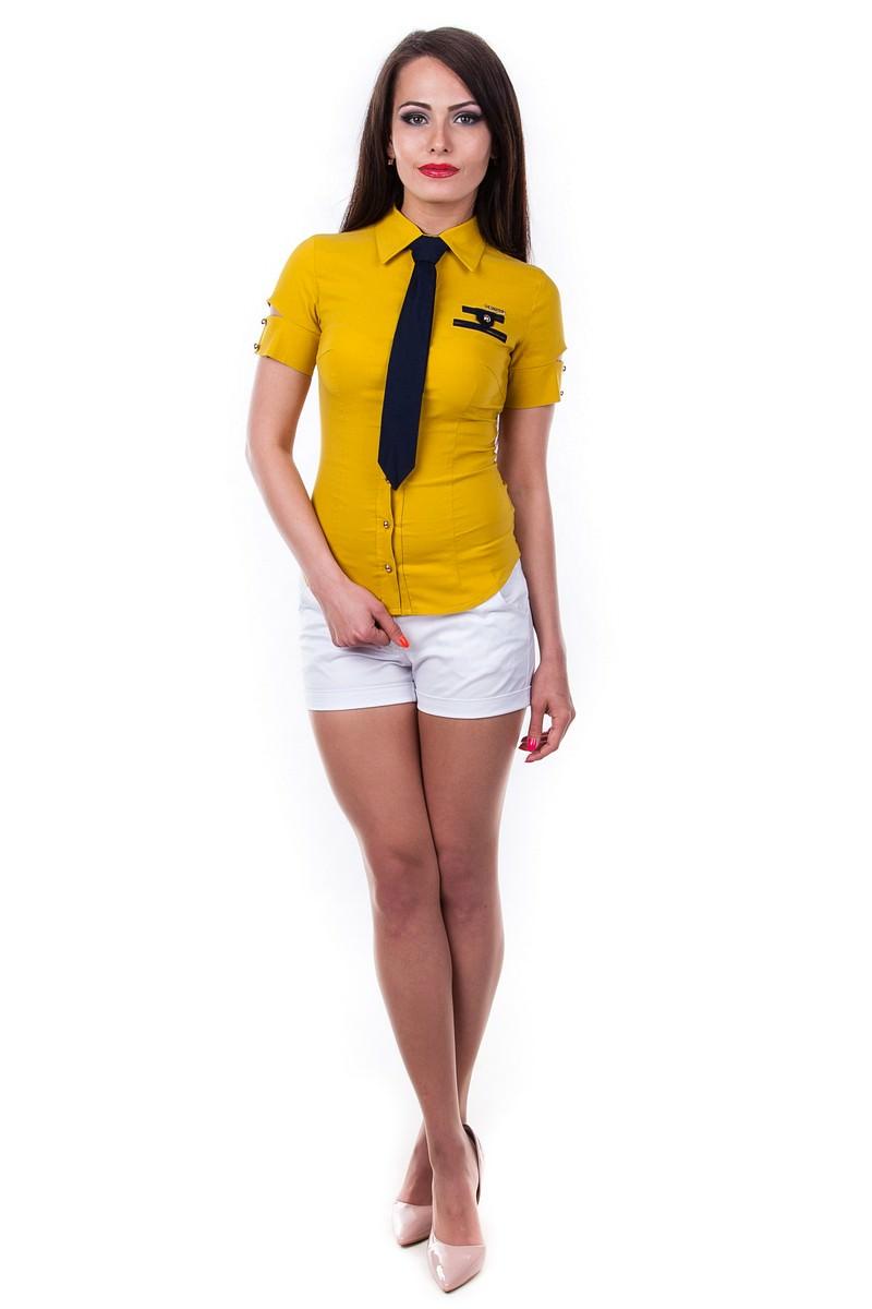 Блузки оптом от производителя Modus Блуза Кесси короткий рукав