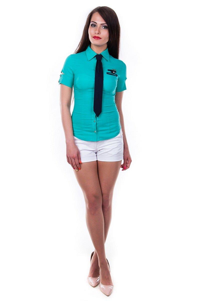 Женские блузки оптом от производителя Блуза Кесси короткий рукав