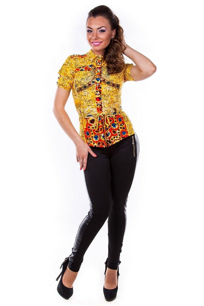 Школьные блузы оптом от производителя Блуза Пэнни короткий рукав