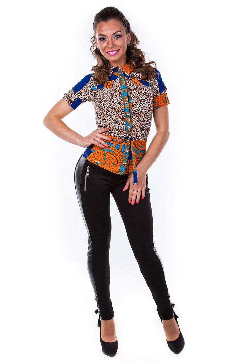 Купить в Украине рубашки женские от производителя Блуза Пэнни короткий рукав