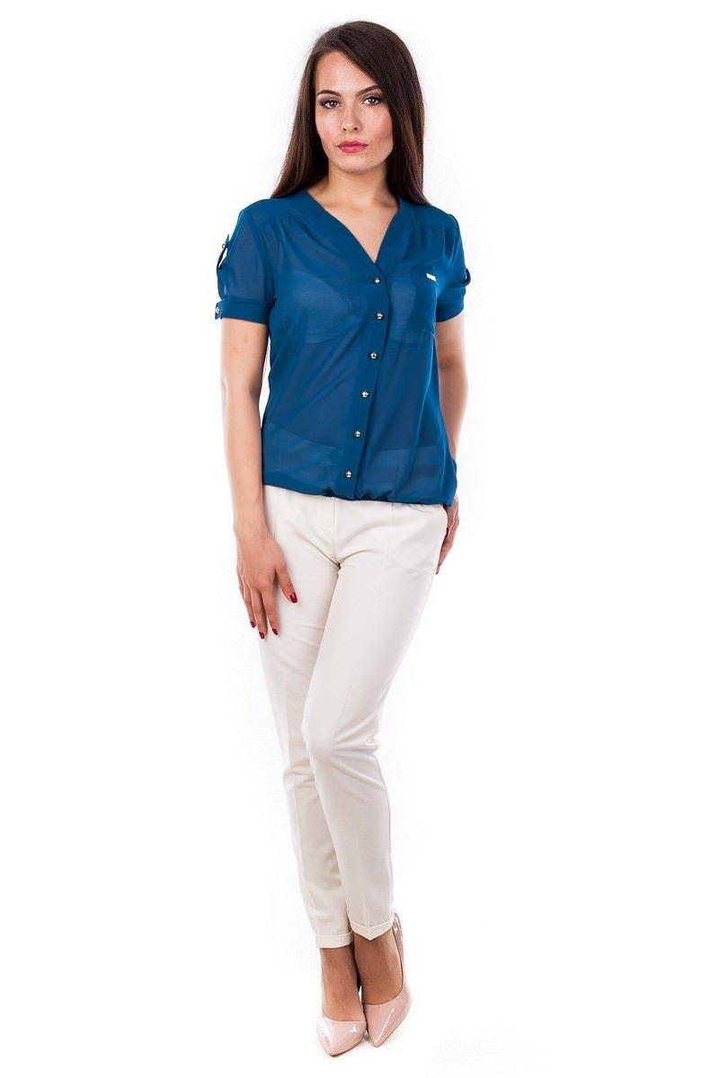 Женские блузки оптом от производителя Блуза Кумир креп короткий рукав