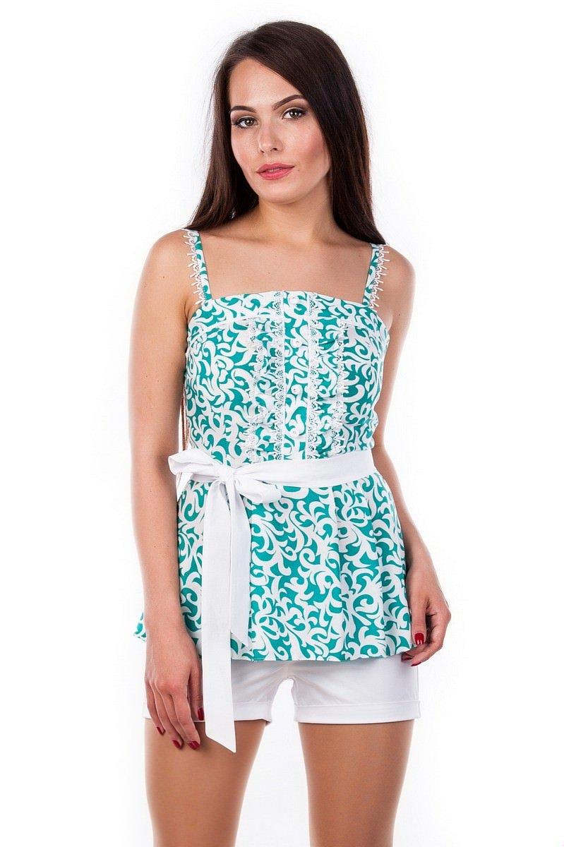 Белые блузки оптом от MODUS Блуза-топ Шарлиз 2505
