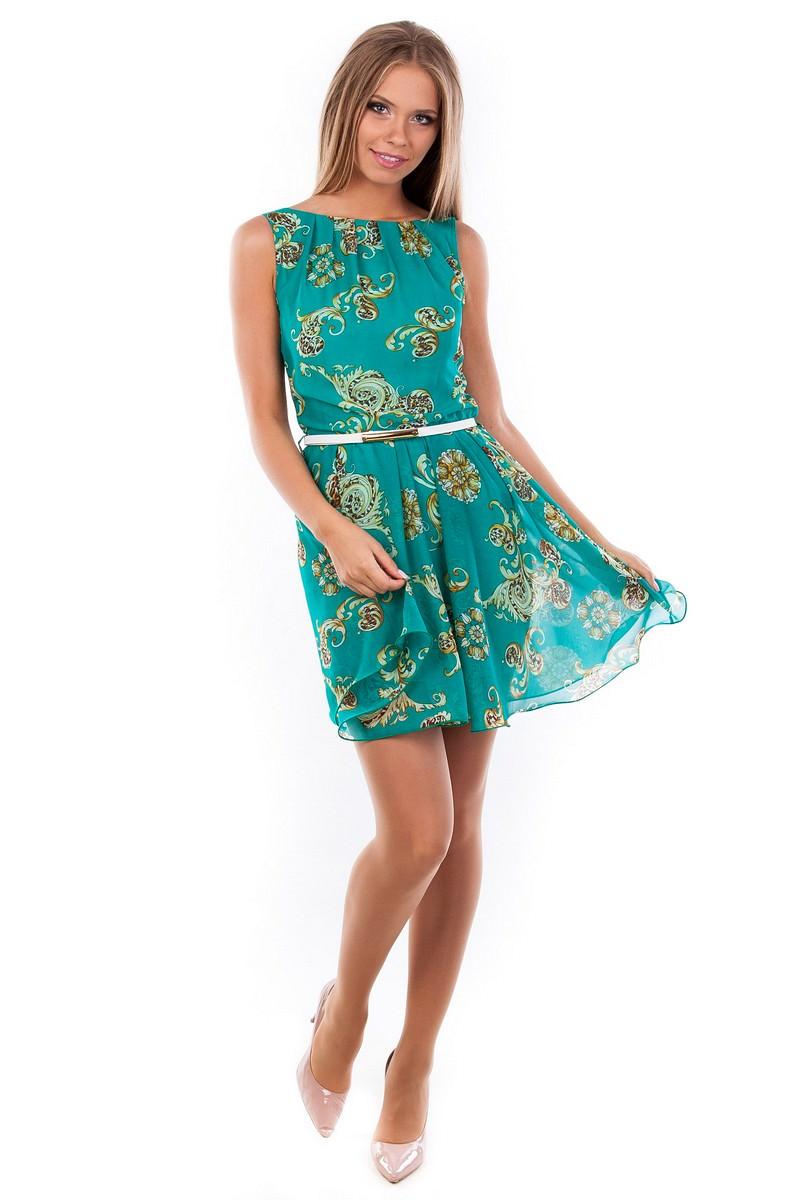 Купить платья женские оптом в Украине Платья Вилена шифон принт
