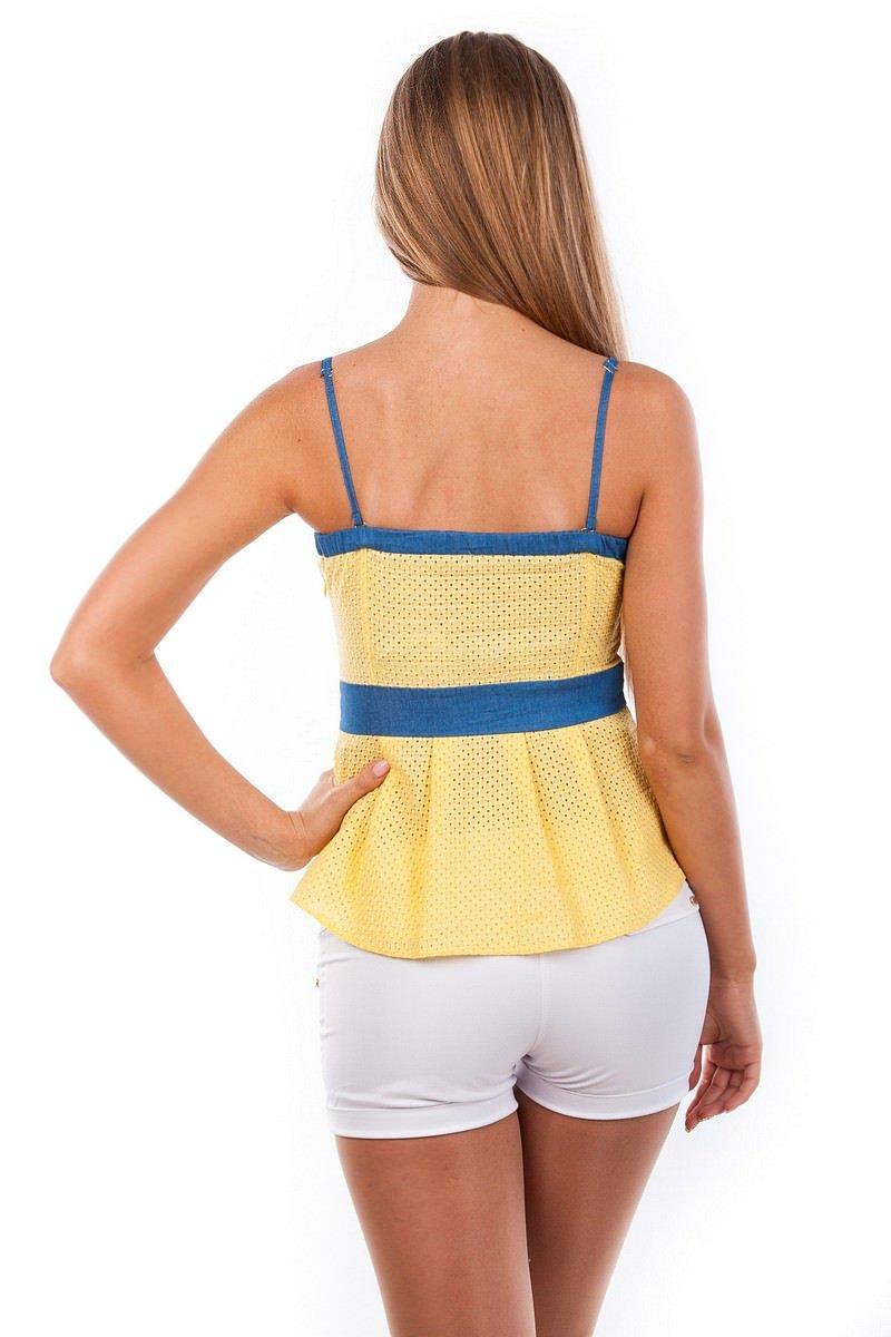 Блуза-топ Люсия 2563 АРТ. 1140 Цвет: Желтый - фото 4, интернет магазин tm-modus.ru