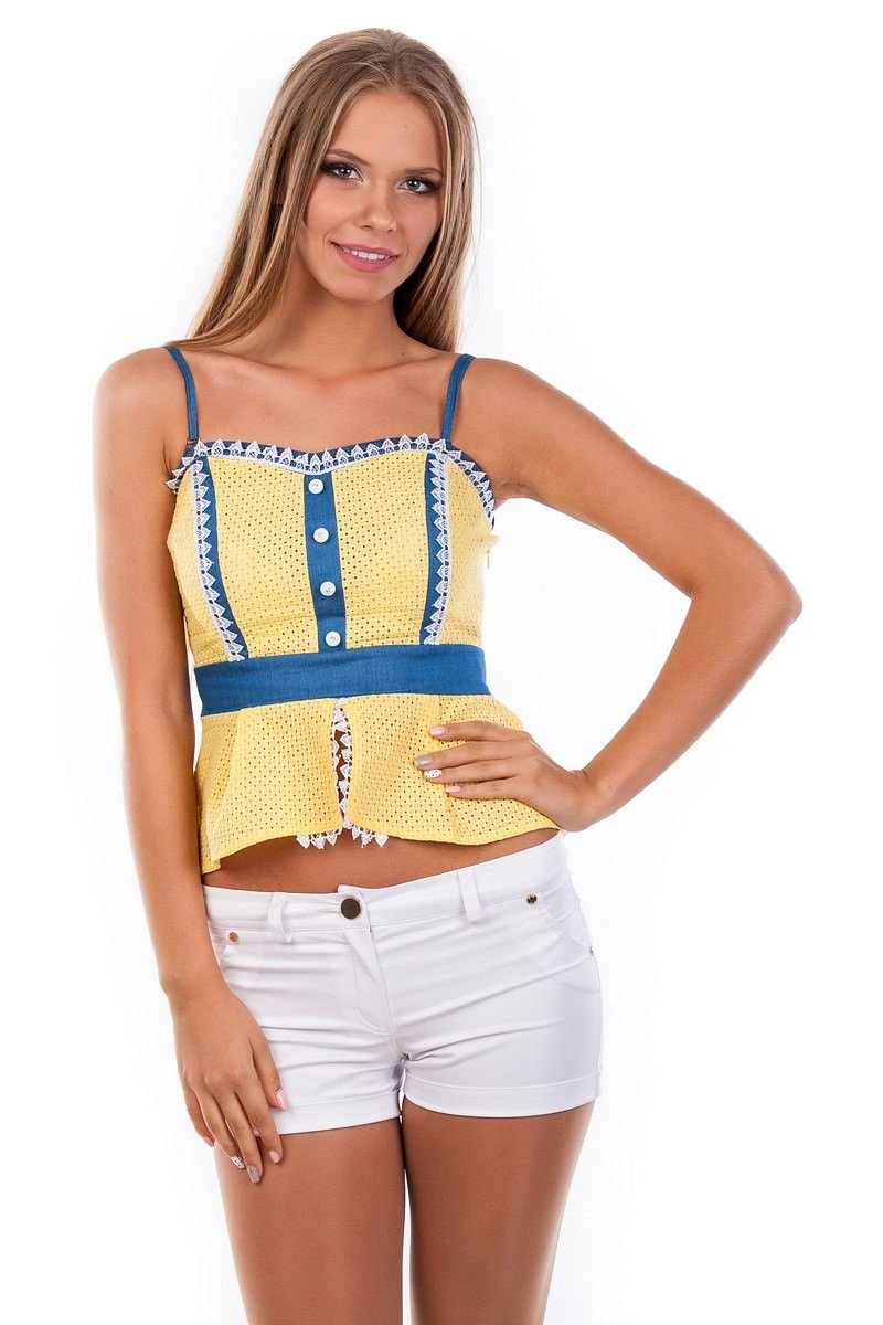 Школьные блузы оптом от производителя Блуза-топ Люсия