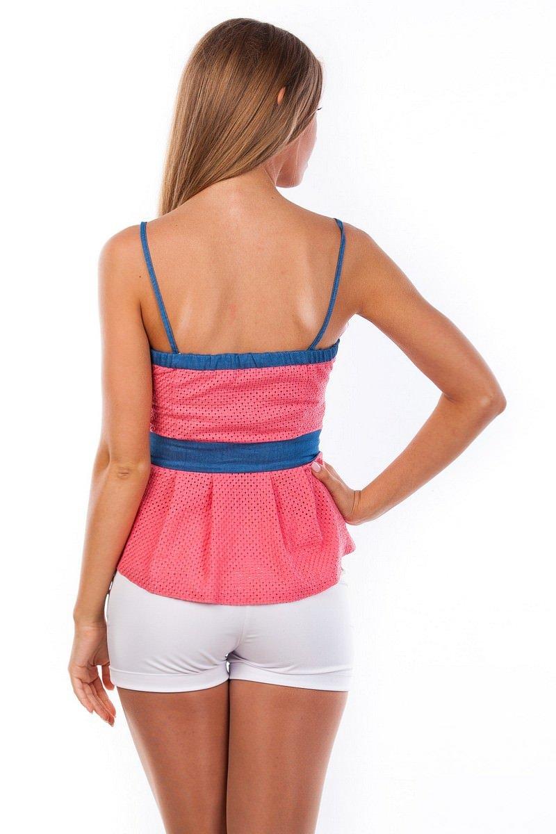 Блуза-топ Люсия 2563 АРТ. 1142 Цвет: Коралл - фото 4, интернет магазин tm-modus.ru