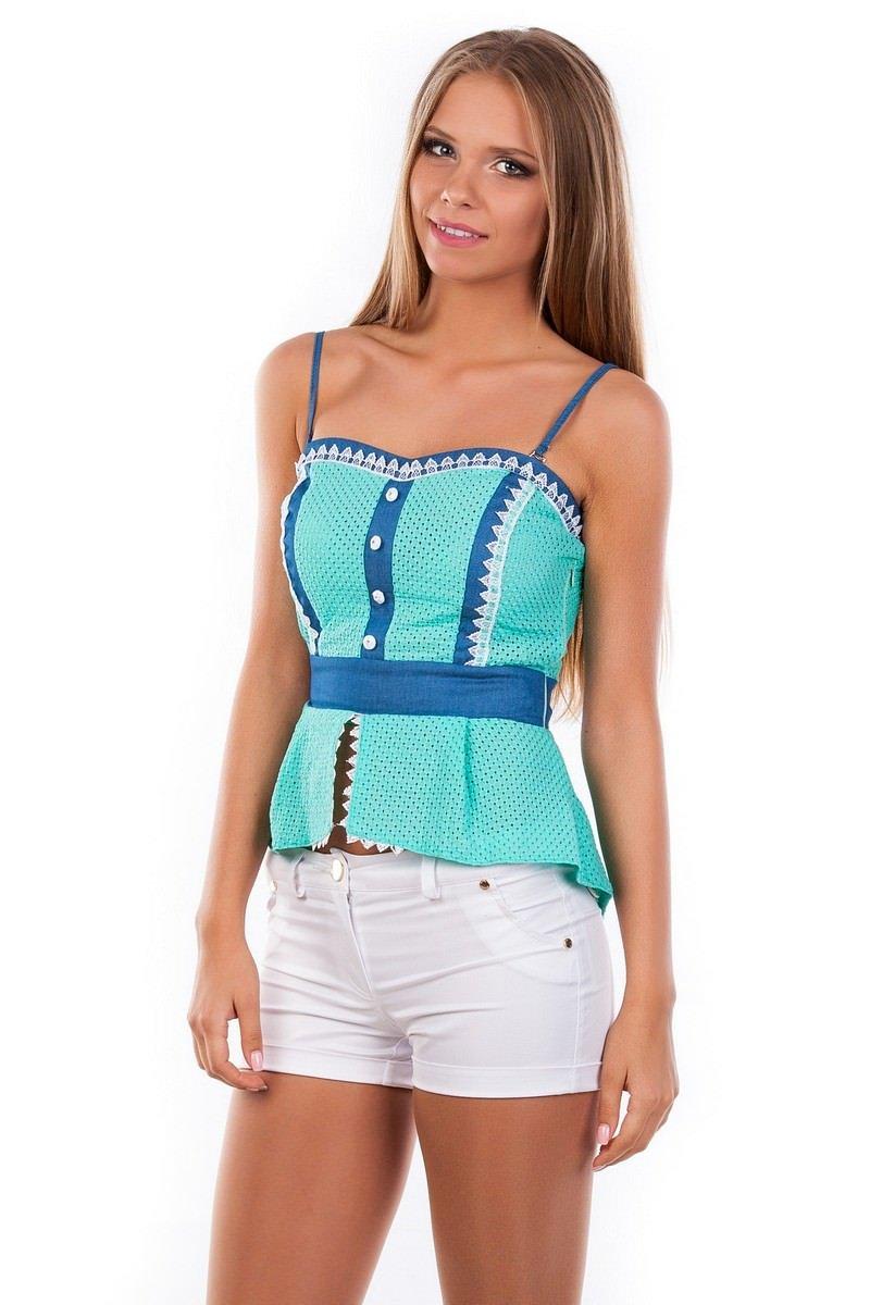 Блуза-топ Люсия 2563 Цвет: Мята