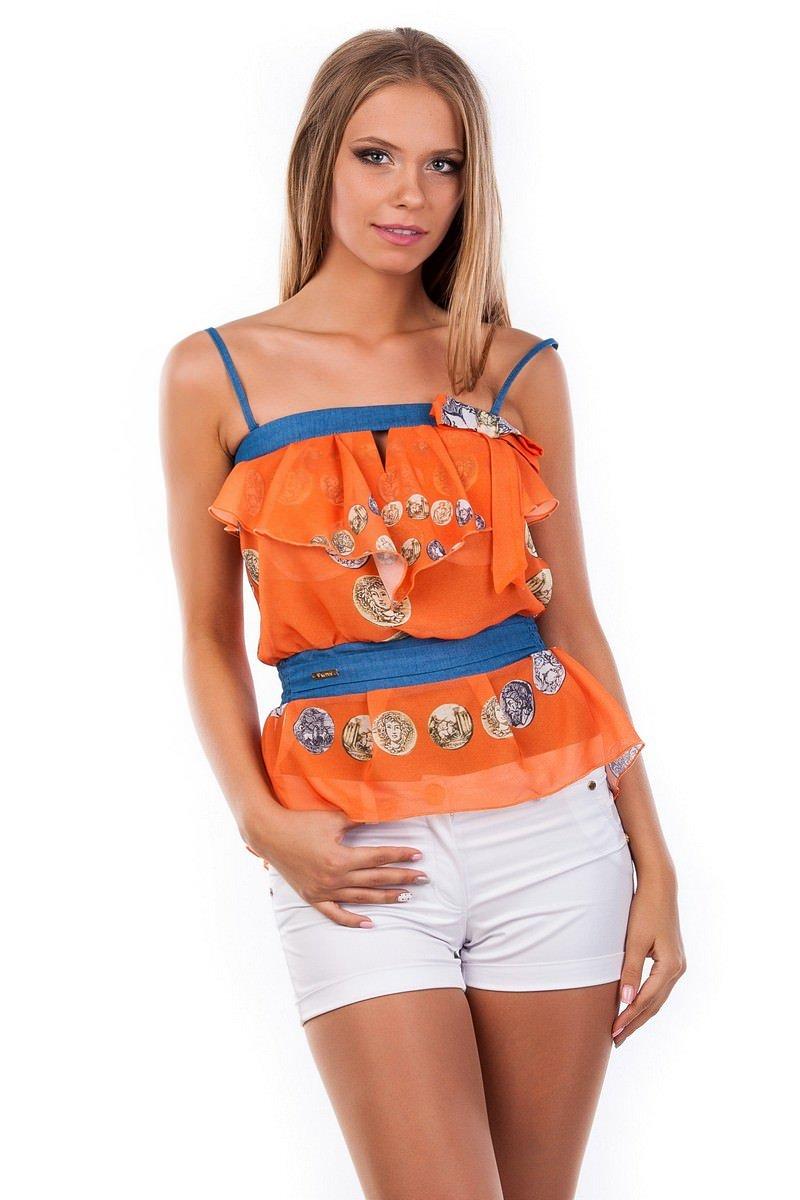 Женские блузки оптом от производителя Блуза-топ Мидина 2568
