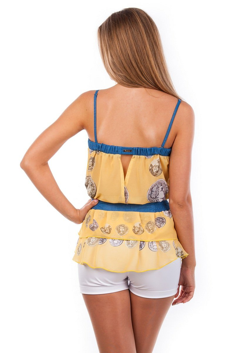 Блуза-топ Сальма 2547 АРТ. 1099 Цвет: Желтый монета - фото 4, интернет магазин tm-modus.ru
