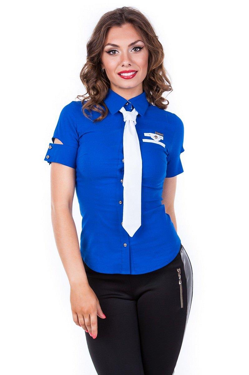 Женская одежда оптом от производителя Modus Блуза Кесси короткий рукав