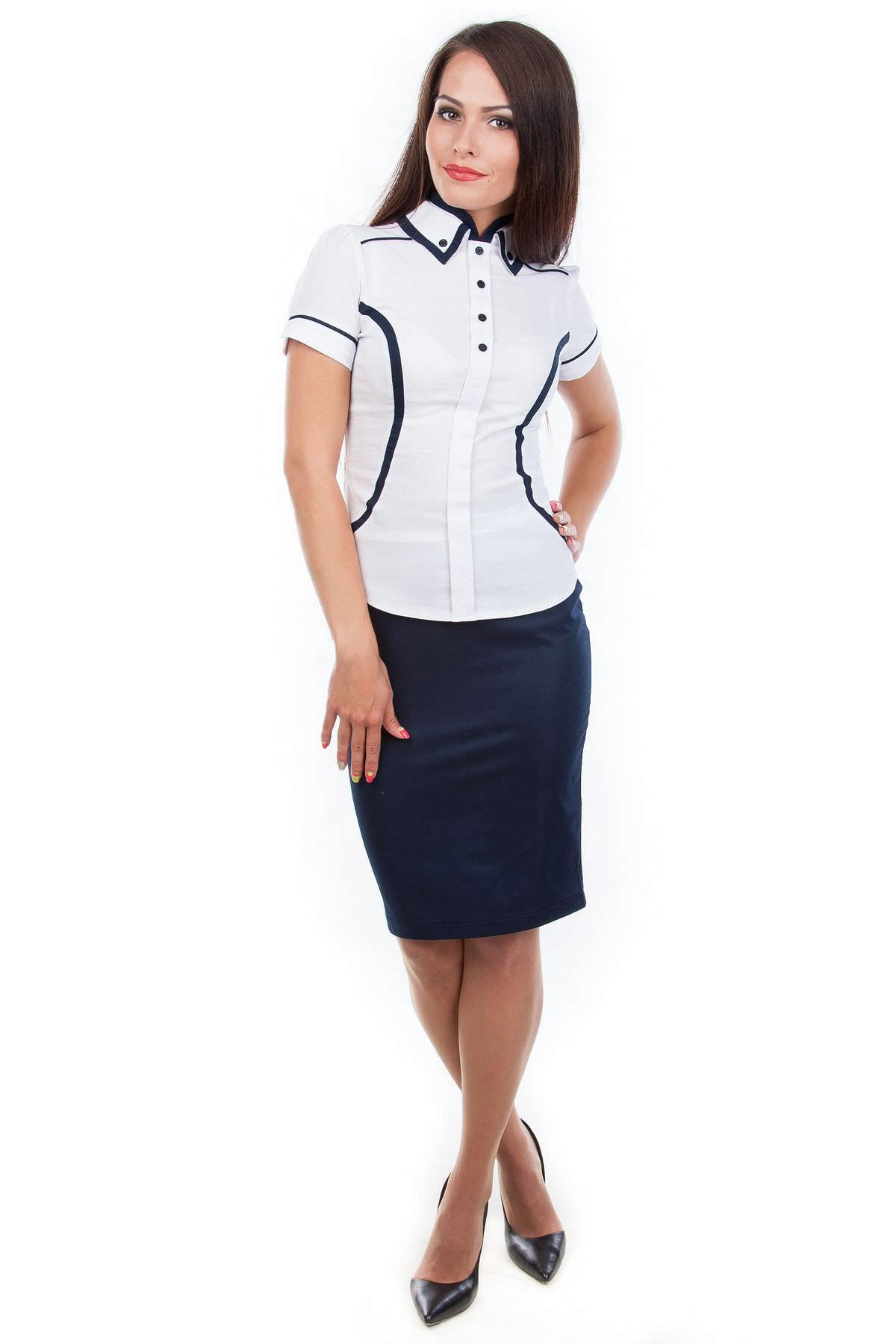 Школьные блузы оптом от производителя Блуза Бонита бенгалин