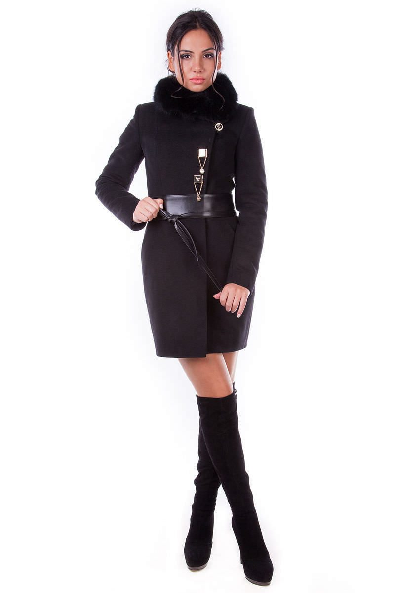 Женская одежда оптом от производителя Modus Пальто Магия песец турция элит