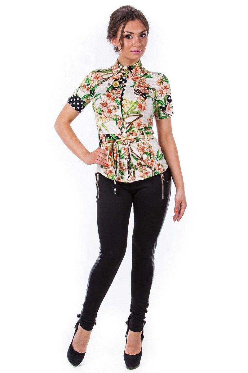 Оптом офисные блузы Modus Блуза Пэнни короткий рукав