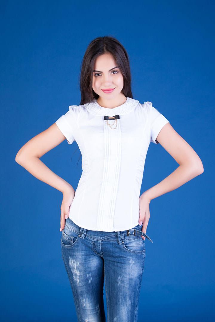 Школьные блузы оптом от производителя Блуза Вери