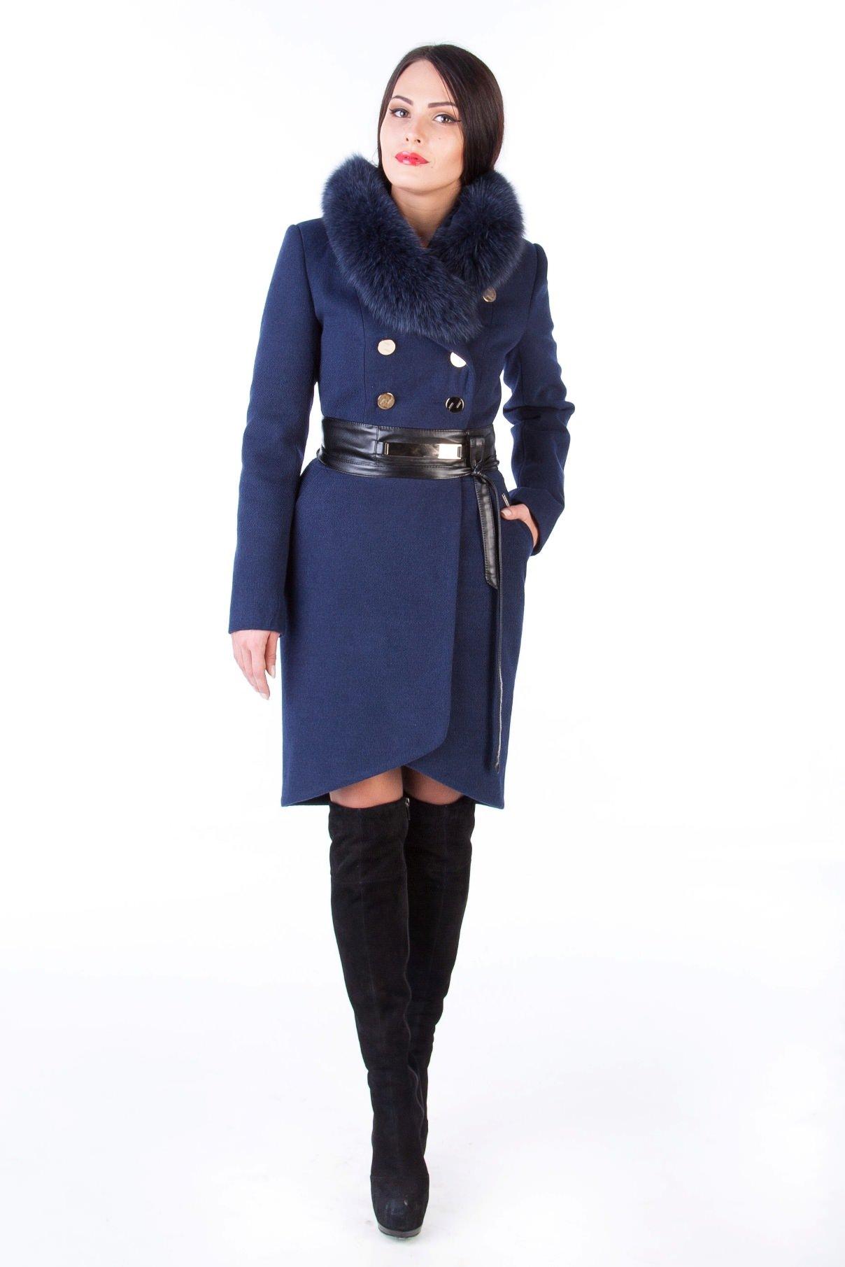 Модус женская одежда оптом недорого Пальто Кураж песец 96