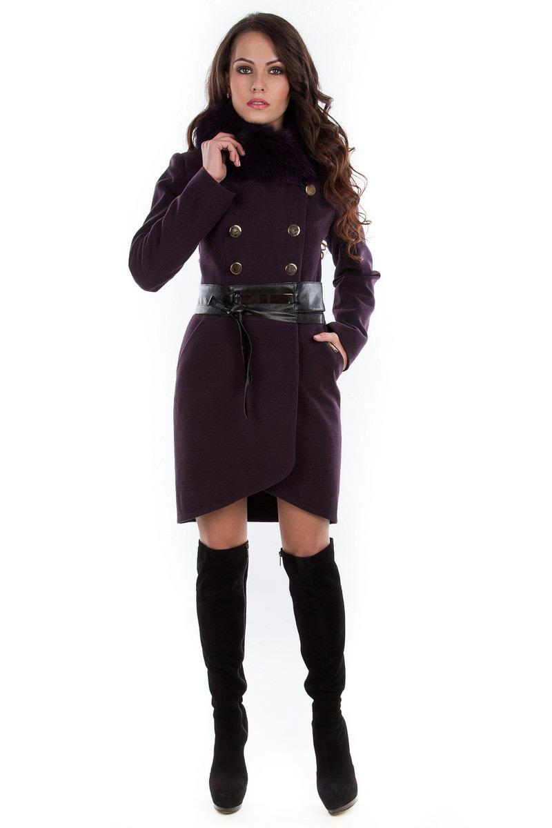 Купить оптом женское пальто недорого Пальто Кураж песец 96