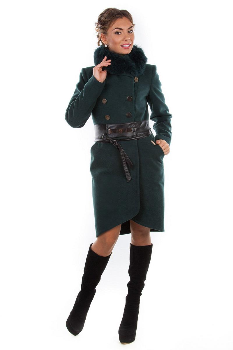 Купить кашемировое пальто оптом от производителя Пальто Кураж песец 96