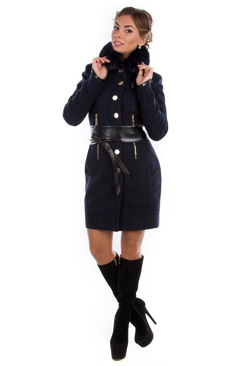 Купить кашемировое пальто оптом от производителя Пальто Марсель песец