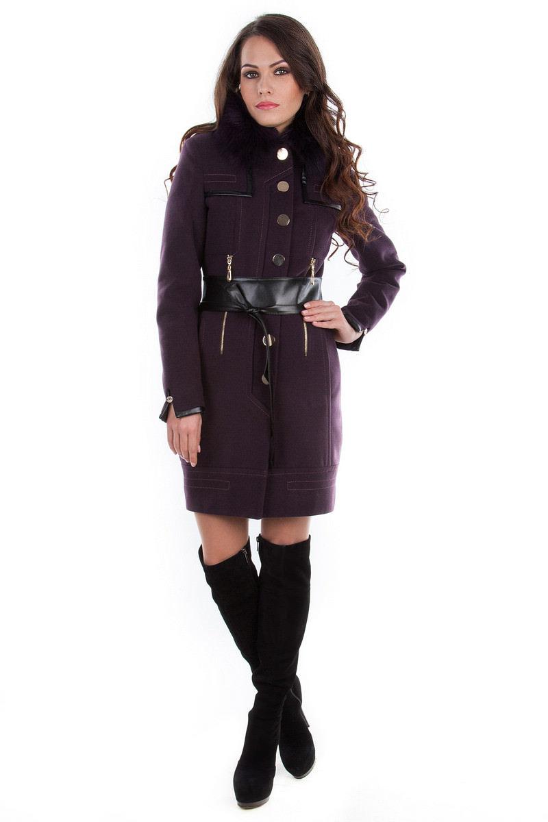 Модус женская одежда оптом недорого Пальто Марсель песец