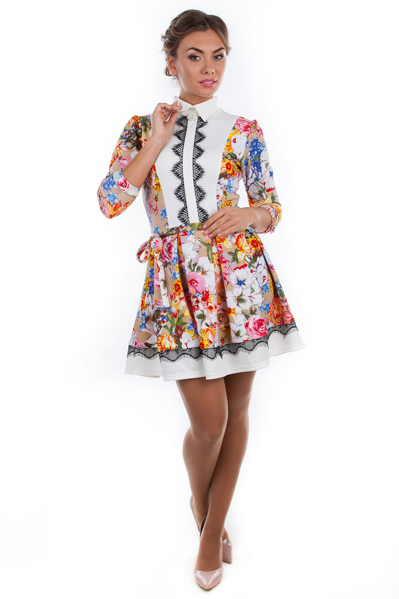 Платье Белые Вязаные Купить