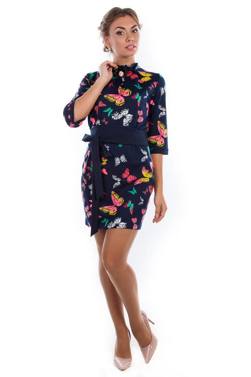 Купить платья оптом от производителя Платье Элегия принт