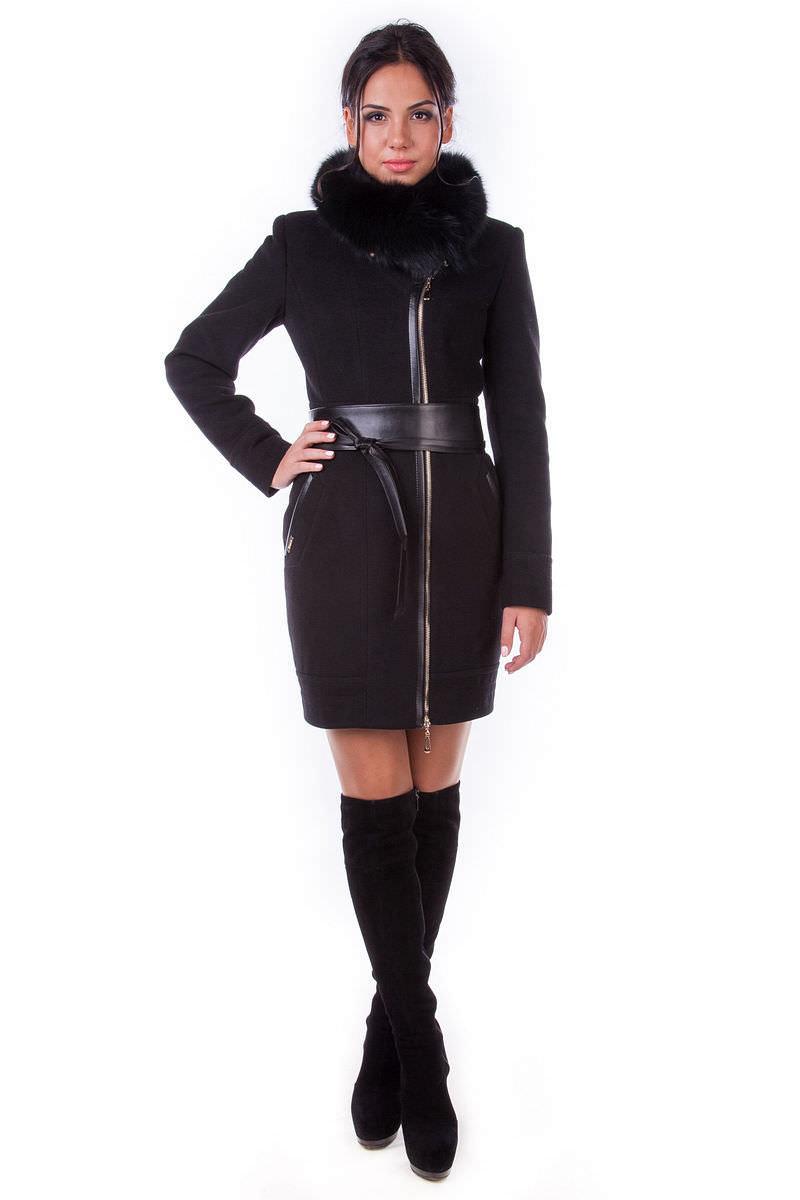 Модус женская одежда оптом недорого Пальто Канны песец
