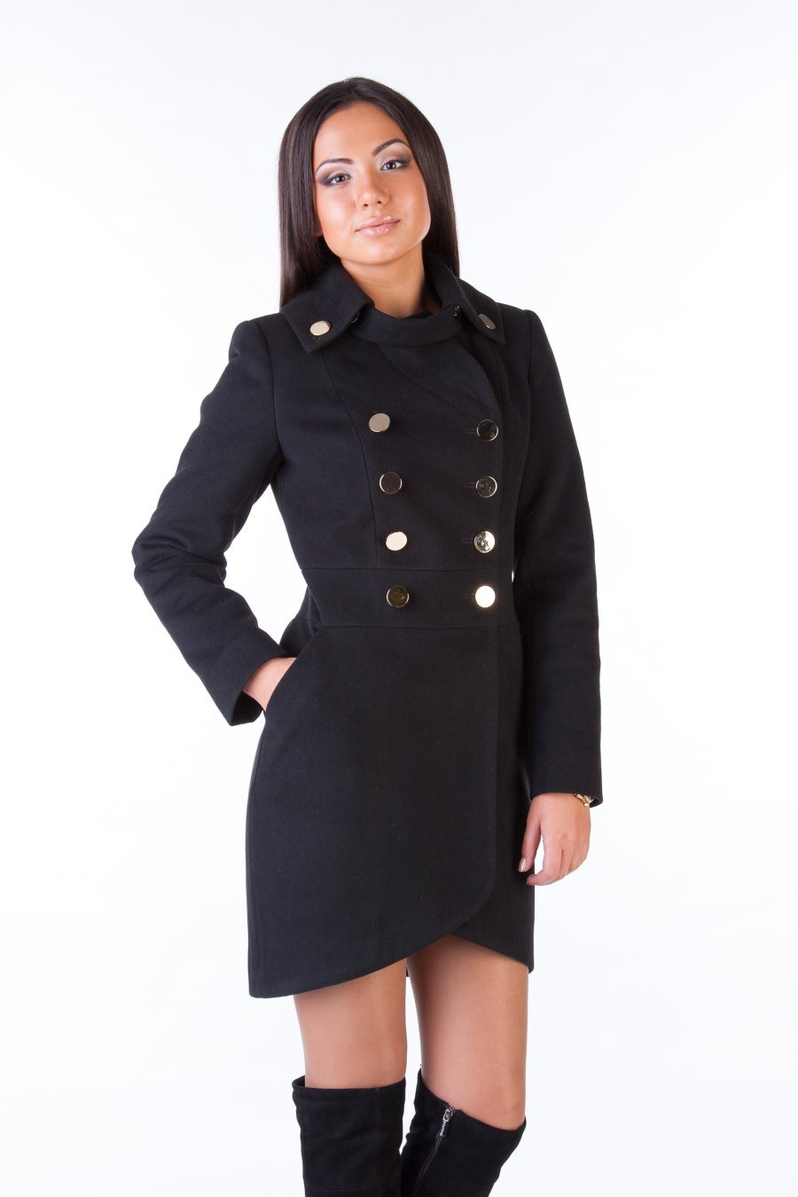 Купить кашемировое пальто оптом от производителя Пальто Кураж 90 Англ.воротник турция элит