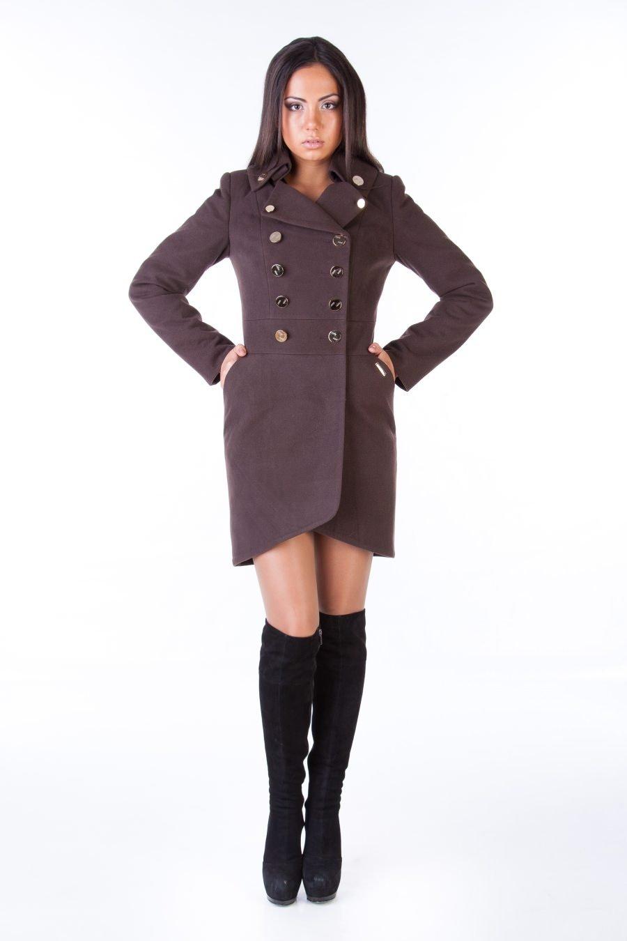 Купить оптом женское пальто недорого Пальто Кураж 90 Англ.воротник турция элит