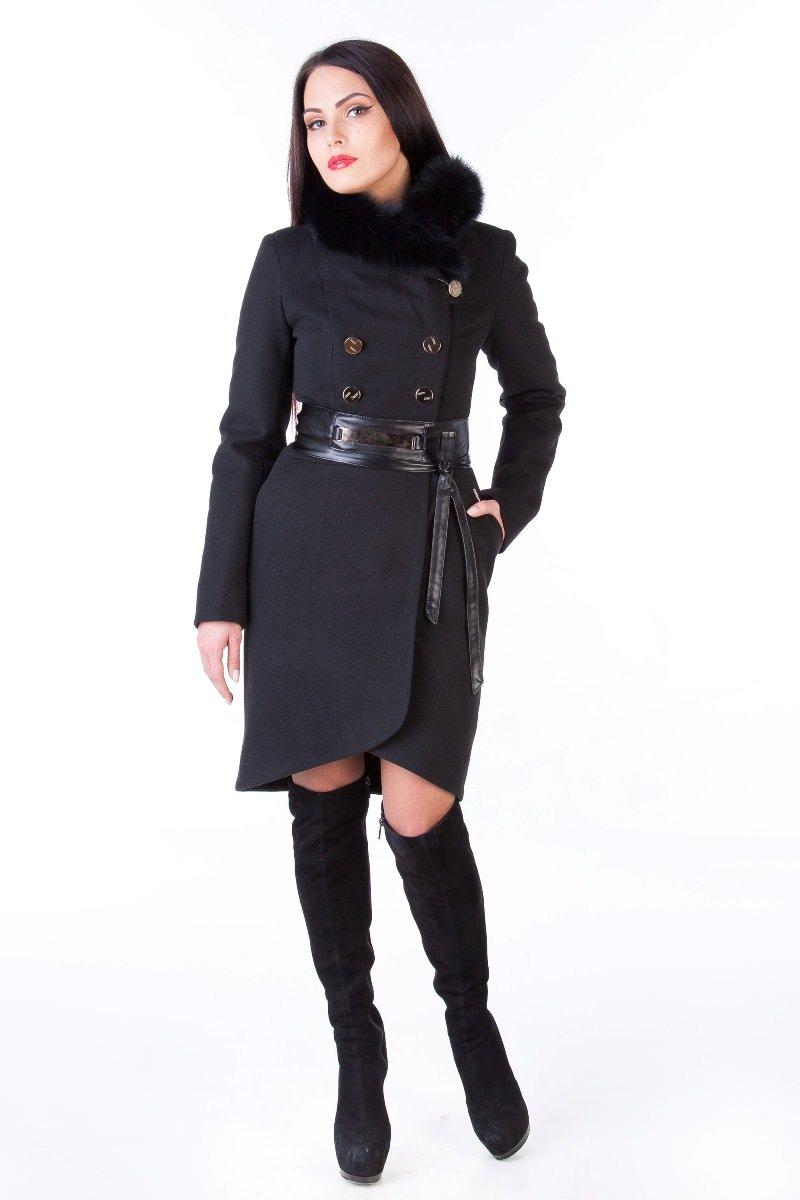 Пальто оптом от производителя Modus Пальто Кураж енот 90