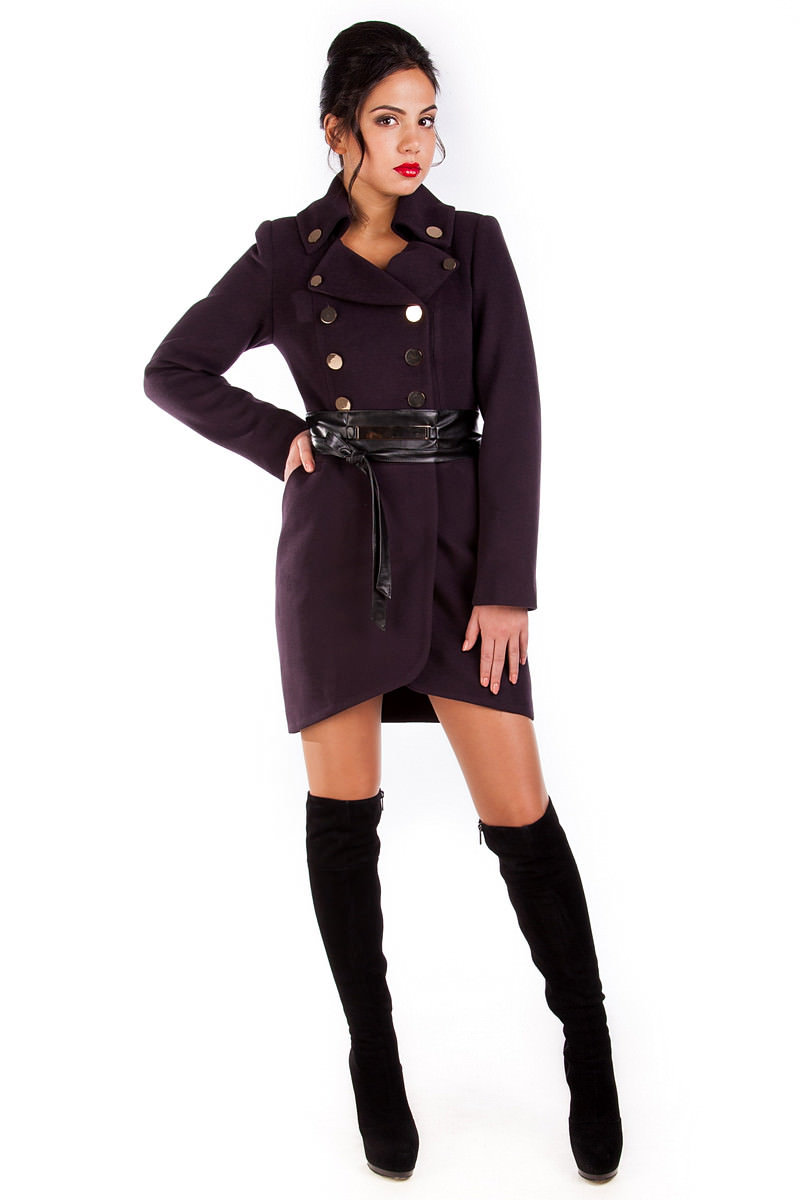 Модус женская одежда оптом недорого Пальто Кураж 90 Англ.воротник турция элит