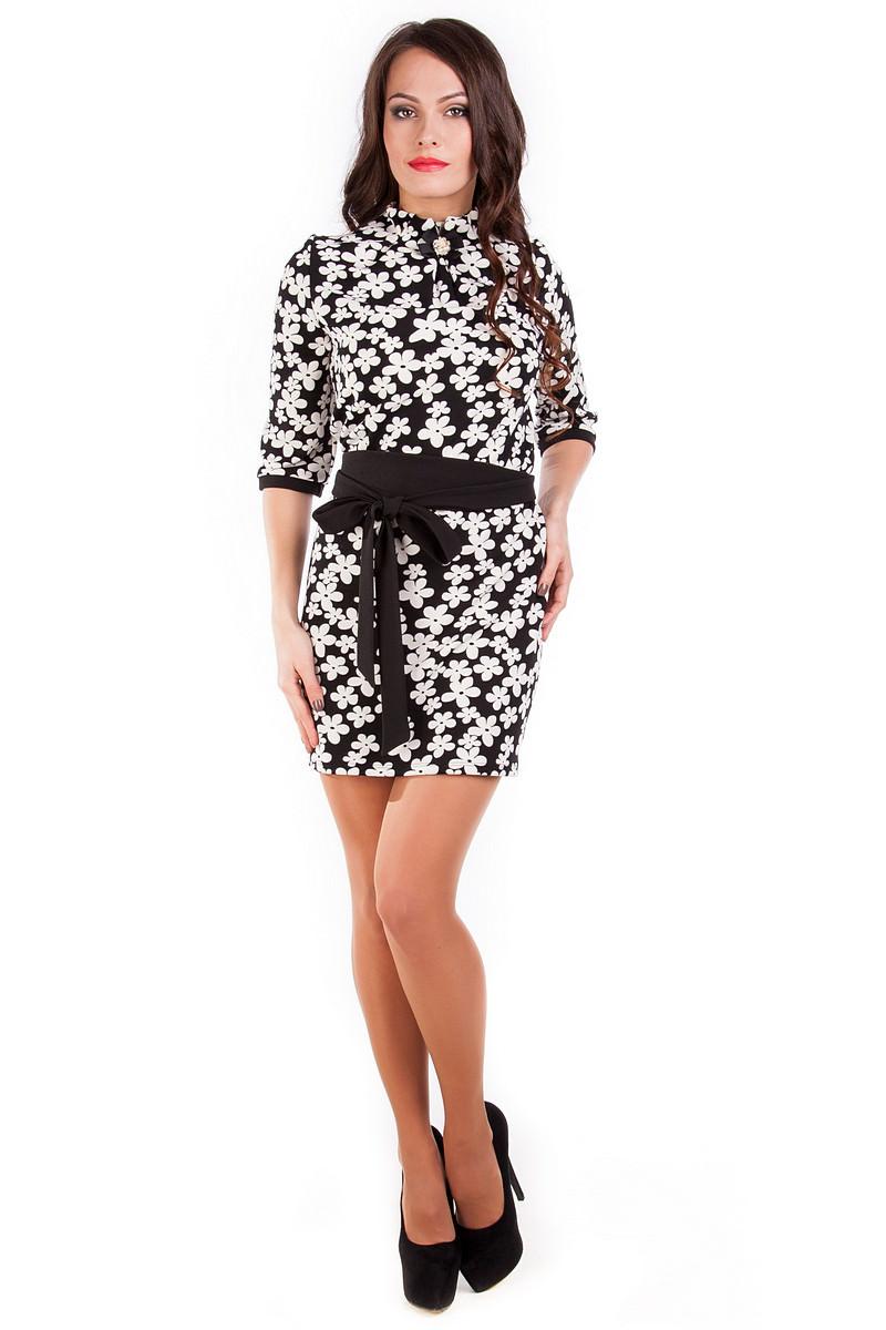 Купить платья оптом от производителя Платье Элегия принт кукуруза