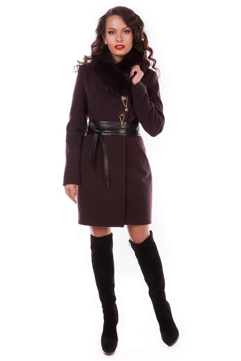 Женская одежда оптом от производителя Modus Пальто Магия зима песец
