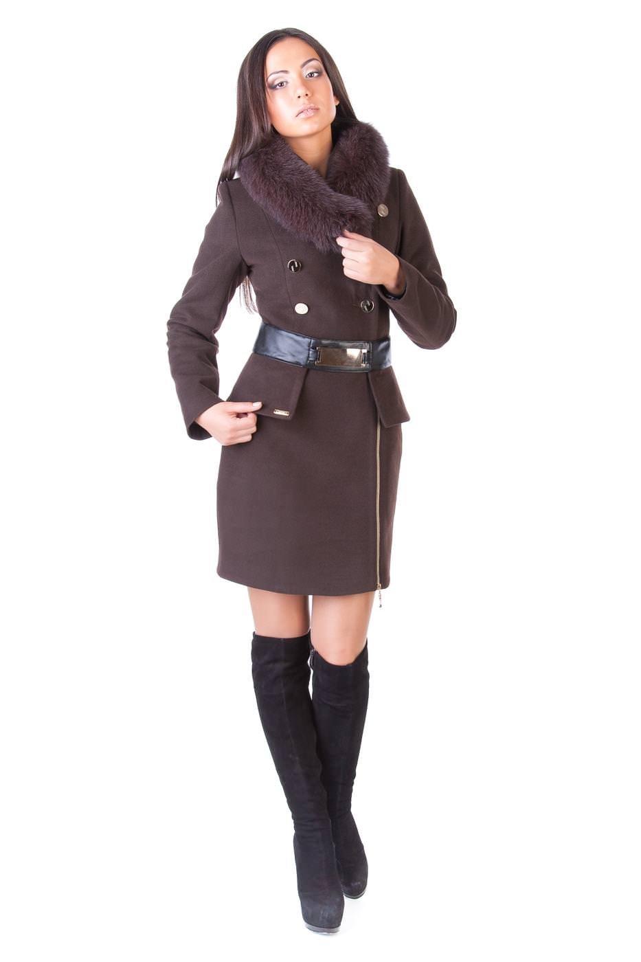 Женское пальто с мехом оптом от Modus Пальто Азарт