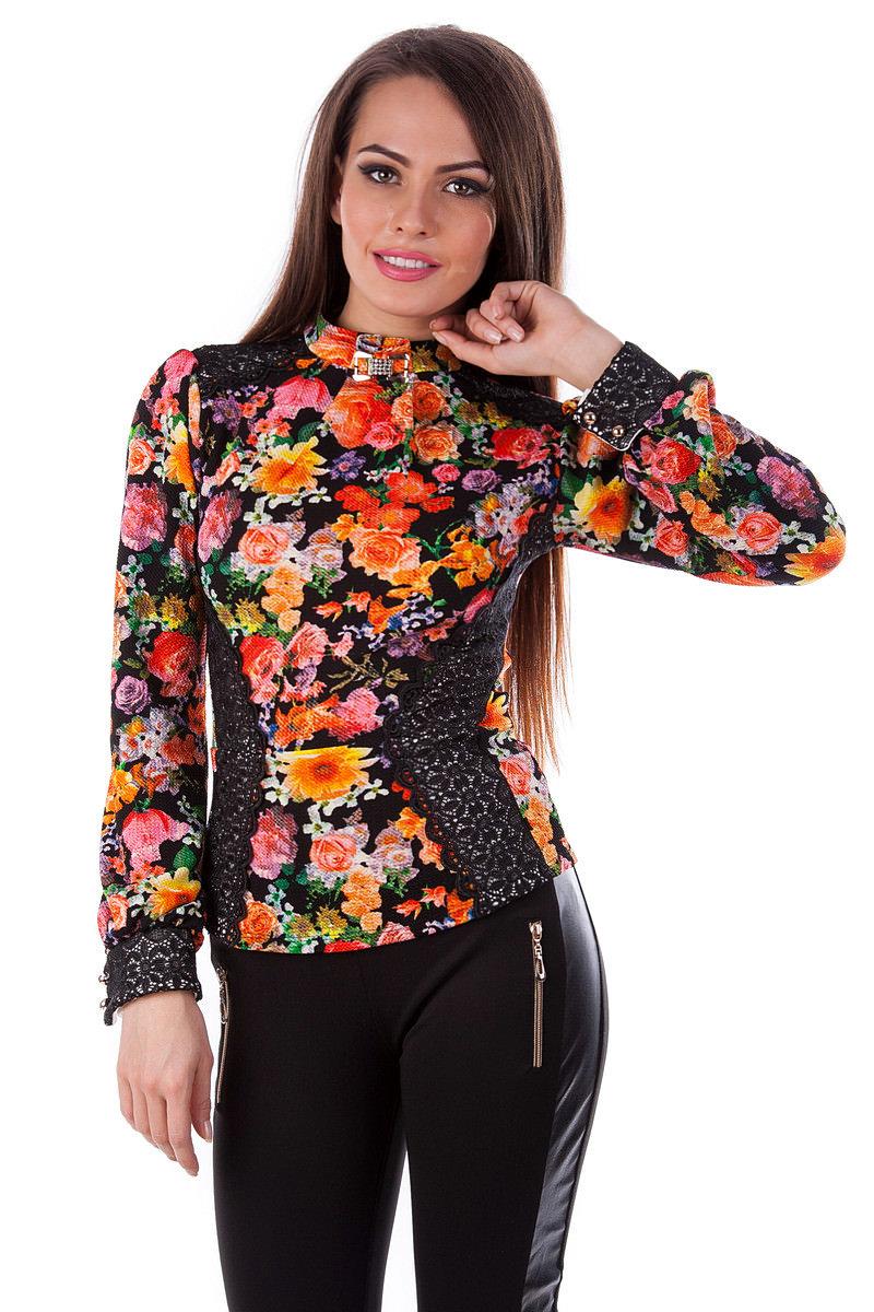 Купить женскую одежду оптом Кофточка Кирси принт