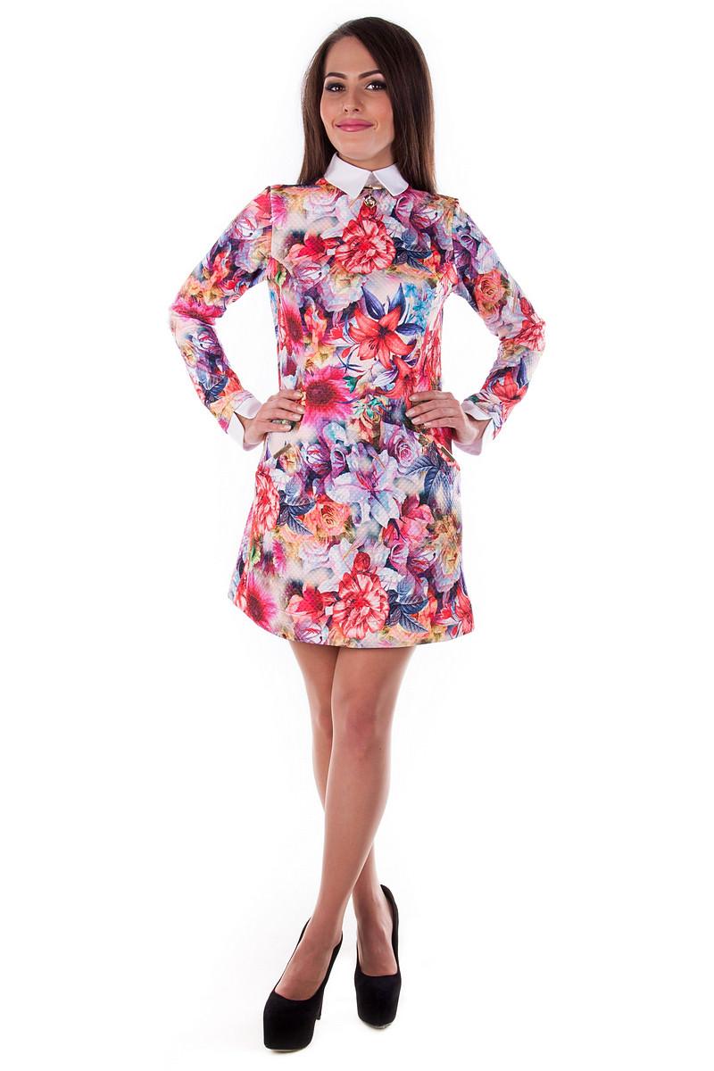 Купить платья оптом от производителя Платье Рига дайвинг принт