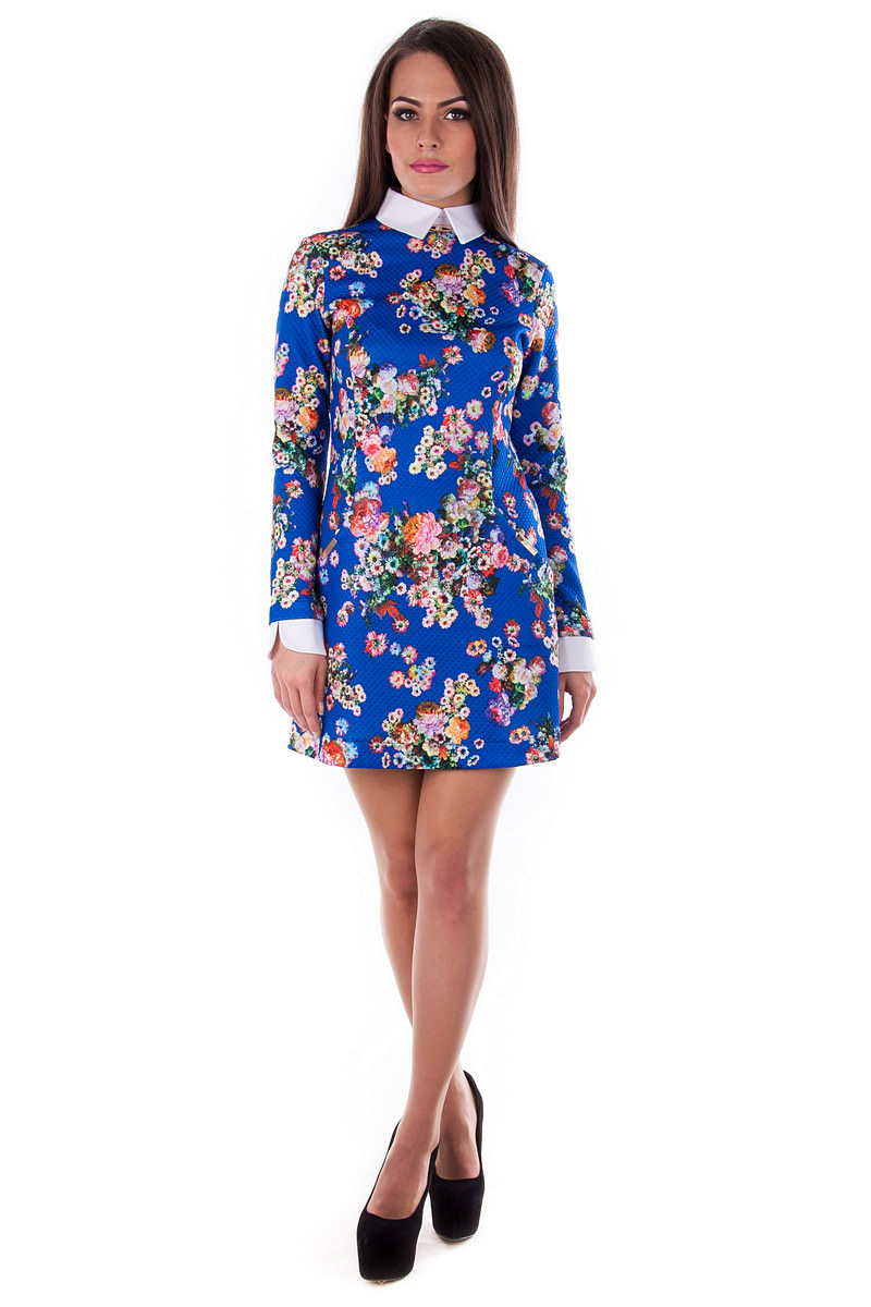 Оптом платье недорого от Modus Платье Рига дайвинг принт