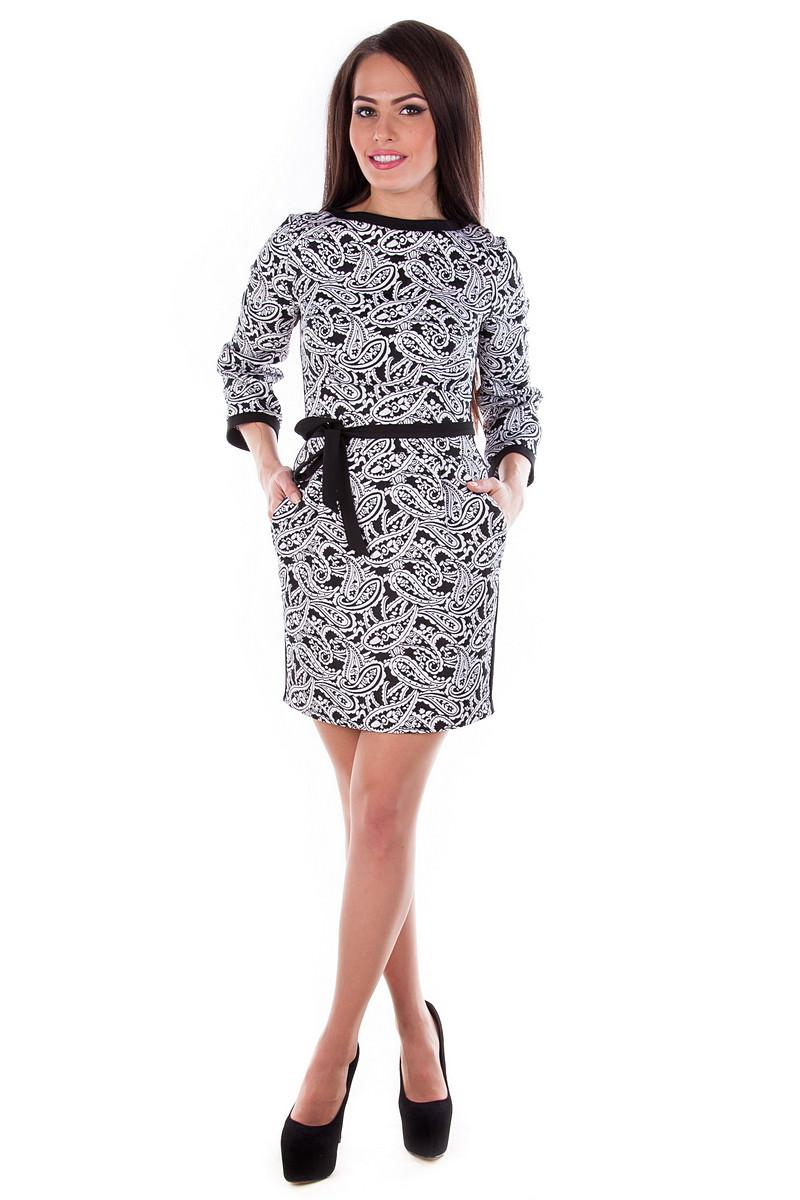 Платья трикотажные оптом от производителя Платье Лора жакард