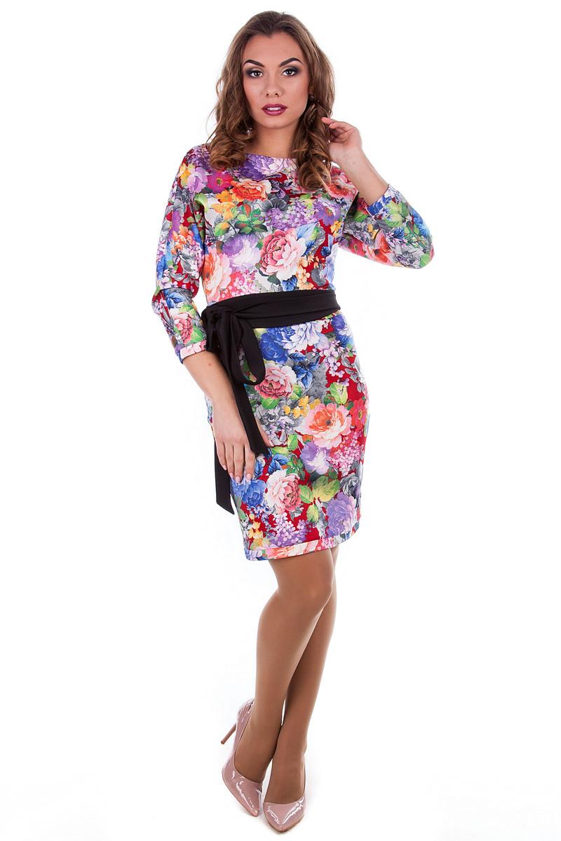 Оптом платье недорого от Modus Платье Жозефина дайвинг принт