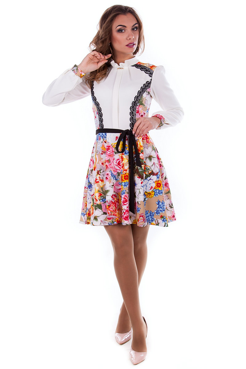 Купить платья оптом от производителя Платье Ланвин принт