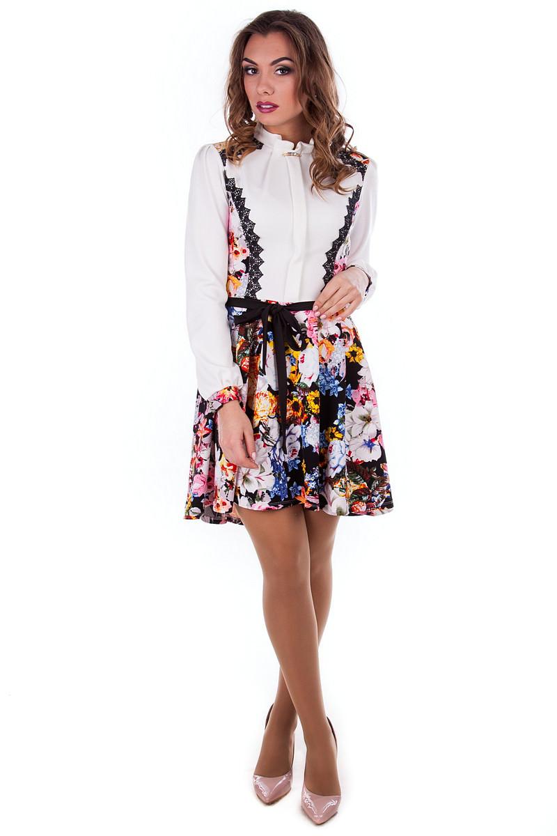 Платья трикотажные оптом от производителя Платье Ланвин принт