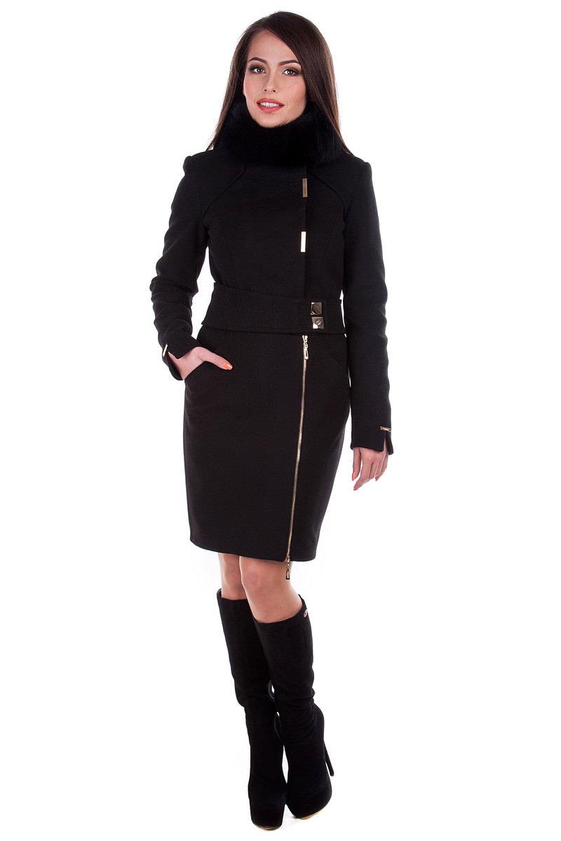 Модус женская одежда от производителя Пальто Монте-Негро, песец