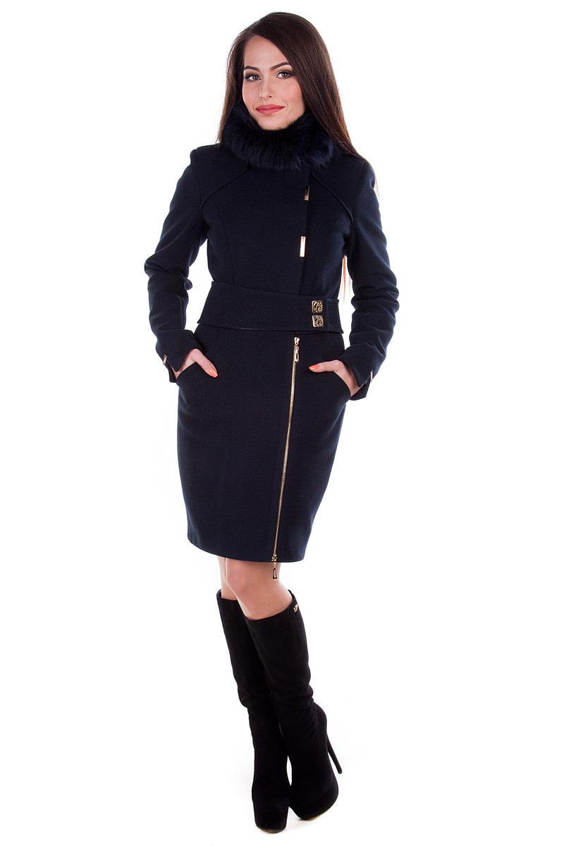 Модус женская одежда оптом недорого Пальто Монте-Негро, песец