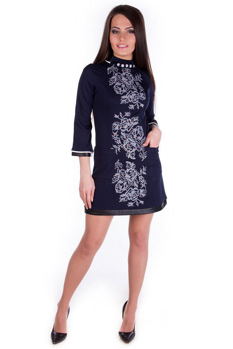 Украшение на платье вязанный цветок
