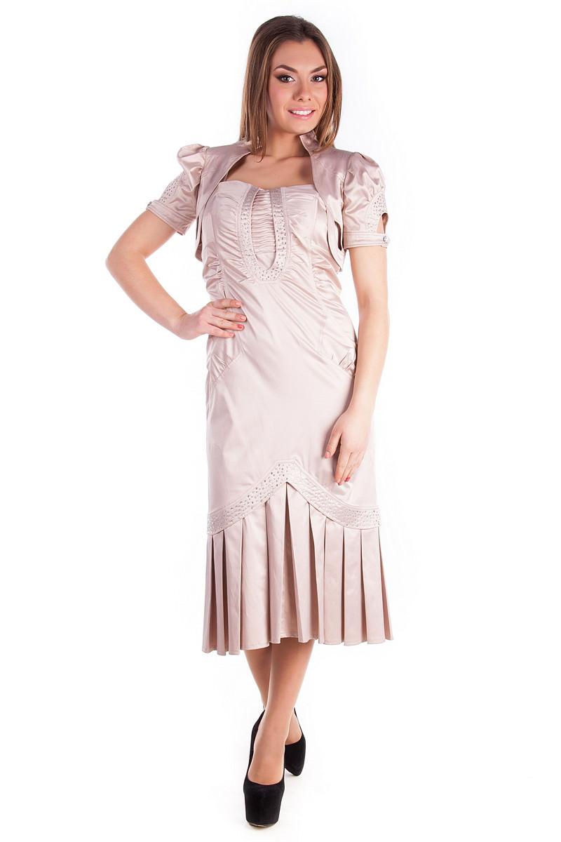 Платья трикотажные оптом от производителя Платье Ваниль