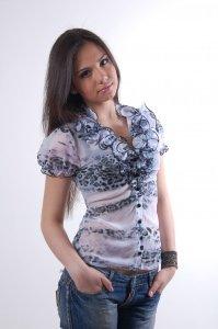 Купить женскую одежду оптом Блуза Лола шифон короткий рукав