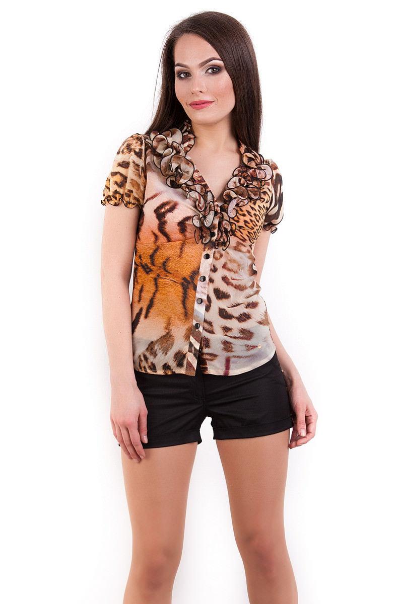 Женская одежда оптом от производителя Modus Блуза Лола шифон короткий рукав