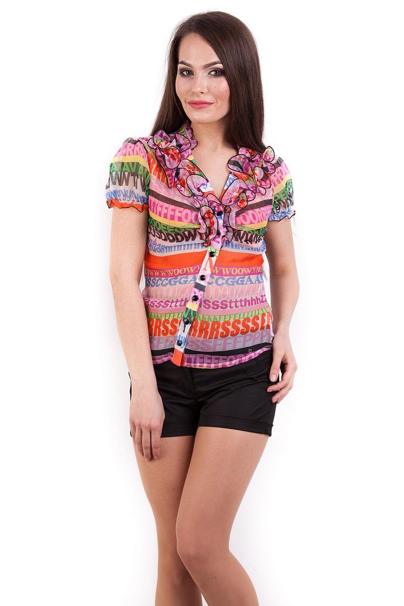 Блуза «Лола шифон короткий рукав»