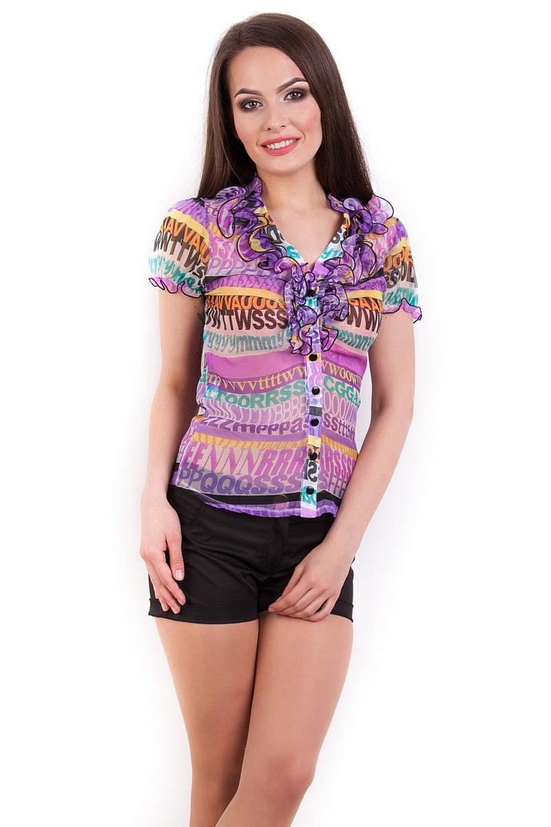 Школьные блузы оптом от производителя Блуза Лола к/р 2511